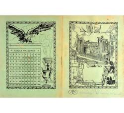"""Fascismo """"Romanità"""" Lotto 6 quaderni anni 30 propaganda - vedi foto e dettagli"""