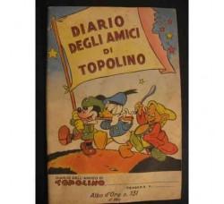 DIARIO AMICI DI TOPOLINO Albo oro n.131 - 1948 - Ottimo