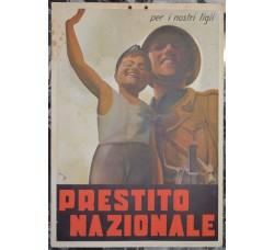 manifesto PRESTITO NAZIONALE 1935 - firmato Mario Gros