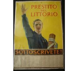 Calendario PRESTITO DEL LITTORIO 1927 - firmato  - propaganda Fascismo