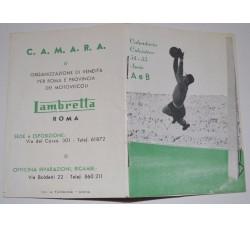 Calcio 1954-1955 Calendarietto tascabile serie A e B, pubblicità Lambretta