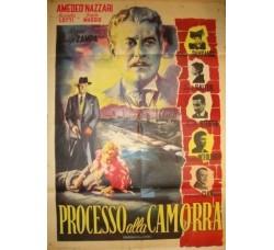 film PROCESSO ALLA CAMORRA - manifesto originale 1951