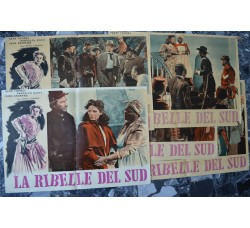5 manifesti originali film - LA RIBELLE DEL SUD