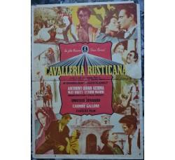CAVALLERIA RUSTICANA locandina originale film 1953