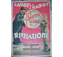 Laurel e Hardy - RIVELAZIONE - manifesto originale film - Stanlio e Ollio