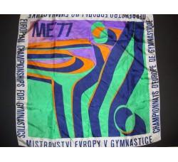 Europei ginnastica 1977- FOULARD COMMEMORATIVO - European Championships ...'77
