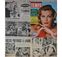 Anita Ekberg - Copertina Tempo e servizi fotografici - 4 fogli 1957