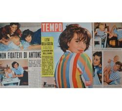 Antonella Lualdi - Copertina Tempo e servizi fotografici - 3 fogli 1957