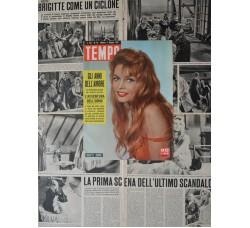 Brigitte Bardot - Copertina Tempo e pag. servizi fotografici - 5 fogli