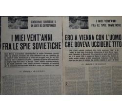 BORIS MORROS biografia fra le spie sovietiche - in 2 n. TEMPO 1957