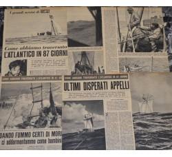 EGARE' II - Traversata dell'Atlantico in 87 giorni - 3 puntate circa 20 pag. da riv. TEMPO 1956