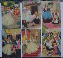 CENERENTOLA - cartoline in Serie n.1/6 - Original vintage - Ottime