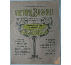 ARGENTERIE catalogo G. BOGGIALI Milano