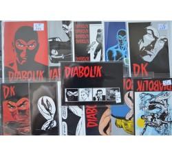 DIABOLIK serie di 12 cartoline pubblicitarie ufficiali ed. Astorina ufficiali - nuove -