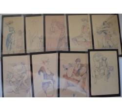 Leone Frollo - serie cpl. n.1/18 cartoline Glamour Inter. - NUOVE