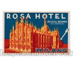 Milano Rosa Hotel Piazza Duomo (Via Pattari) Etichetta d'albergo
