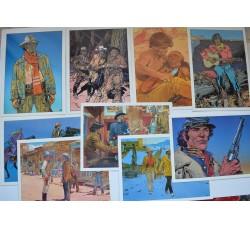 BLUEBERRY - serie cpl. 9 cartoline ed. Aedena -  GIR (J. Giraud - Moebius) - 1984
