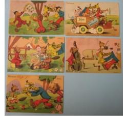 CRAVERI 5 cartoline de IL VITTORIOSO serie I°