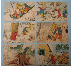 CRAVERI, 6 cartoline de IL VITTORIOSO serie III° cpl.