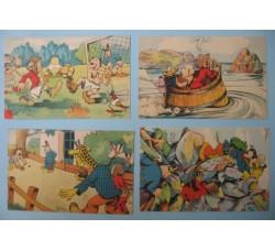 CRAVERI 4 cartoline de IL VITTORIOSO serie IV°
