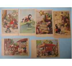 CRAVERI 6 cartoline de IL VITTORIOSO serie VIII° cpl. L'annata n.1/6.