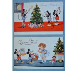 TOPOLINO Buon Natale - 2 cartoline 1931