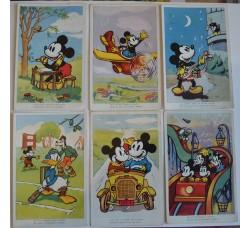 Disney - 6 Cartoline Topolino, Paperino 1938