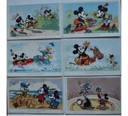 Disney - 6 cartoline Topolino, Paperino, 1938