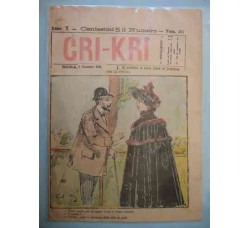 CRI-CRI n.467 Dic. 1896 satirico illustrato