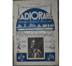 apparecchi Radio vintage RADIORARIO rivista URI - 1926