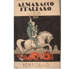 ALMANACCO ITALIANO BEMPORAD 1938 - Ottimo (Foto - Vignette - Illustrazioni - Pubblicità)