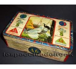scatola latta MOHINI BRAND saffron, tabacco per fumo.