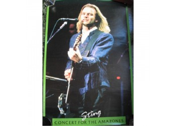 STING Concert for the Amazones - Poster vintage