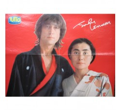 "BEATLES J. Lennon Y. Ono Poster - Suppl. riv.  ""Tutto"""