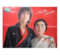 "BEATLES J. Lennon Y. Ono Poster - Suppl. riv.  ""Tutto"""