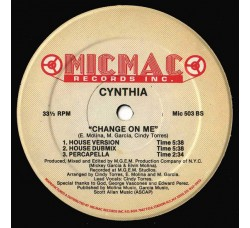 Cynthia ‎– Change On Me - Vinyl