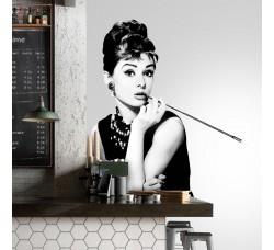 Audrey Hepburn - Maxi adesivi in tessuto – Audrey Sigaretta
