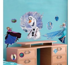 Elsa & Olaf Disney Adesivo Removibile