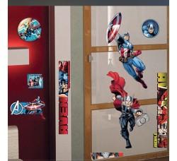 Avengers! Thor e Captain America  Disney Adesivo Removibile