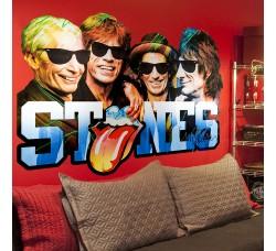 Rolling Stones - Tessuto Adesivo Riposizionabile -Mt 1 x Mt 2.10