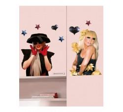 Lady Gaga - Adesivo da Parete Removibile
