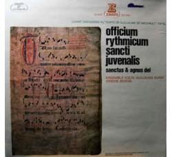 Ensemble Vocal Guillaume Dufay, Arsène Bedois – Officium Rythmicum Sancti Juvenalis, Sanctus & Agnus Dei - LP/VINILE