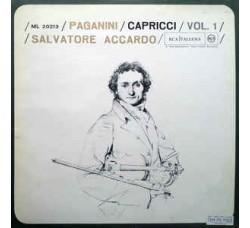 Paganini - Salvatore Accardo – Capricci Vol. 1 - LP/VINILE