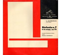 Ludwig van Beethoven / Orchestra Filarmonica di Vienna, Wilhelm Furtwängler – 7^ Sinfonia in La Magg., Op. 92 - LP/VINILE