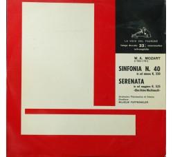 """W.A. Mozart - Wilhelm Furtwängler – Sinfonia N. 40 In Sol Minore K. 550 / Serenata In Sol Maggiore K. 525 """"Eine Kleine Nachtmusik"""" - LP/VINILE"""