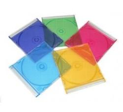 Custodie  Slim sottili per CD  5 Colorati diversi - Qtà 5