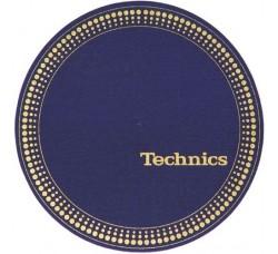 "Technics  - Slipmats / Tappetini ""Blue Logo white""  (1-Tappetino)"