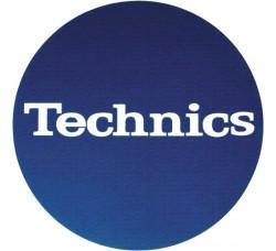 "Technics - Slipmats / Tappetini ""Blue Logo white ""  (1-Tappetino)"