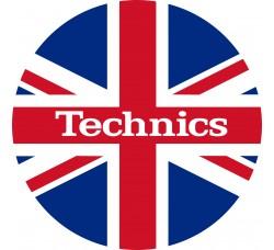 SLIPMATS Tappetino Panno PER Giradischi - TECHNICS UK FLAG °