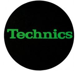 """Technics - Slipmats / Tappetino  """"Scritta Verde""""  ( Qtà 1 Tappetino)"""